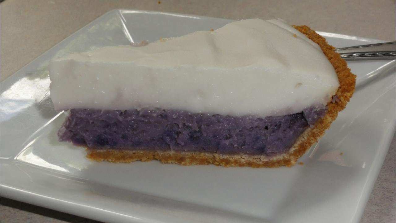 Okinawan Sweet Potato Haupia Pie Youtube