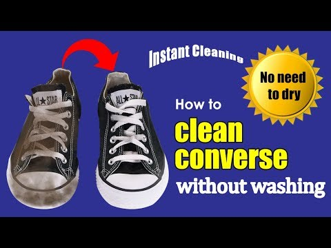 How to clean converse without washing