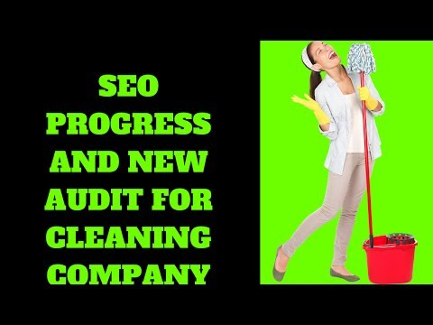 SEO Progress And New Audit For Cleaning Company