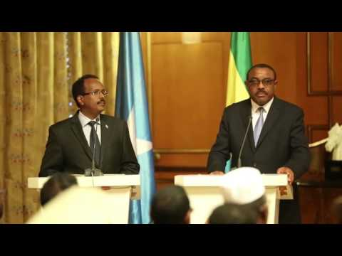 Watch Press Conference of Somali President and Ethiopian Prime Minister - ADDIS ABABA (FULL HD)