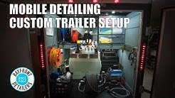 Mobile Detailing Custom Trailer Setup with Kranzle K1322TS
