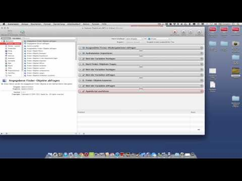 Automator Tutorial - iTunes Songs in MP3 umwandeln -Nachtrag Titel umbenennen-