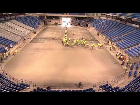 Mohegan Sun Arena Ice Floor Concrete Floor Time Lapse