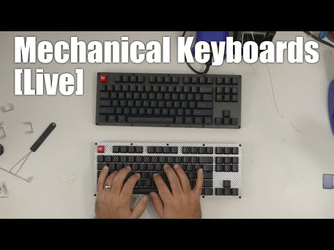 Livestream - just building some Carbon Fiber mechanical keyboards
