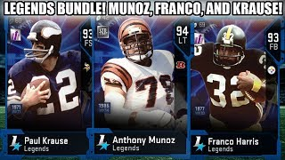 LEGENDS BUNDLE! MUNOZ, KRAUSE, AND FRANCO! TODAY'S RIDDLE SOLO! | MADDEN 19 ULTIMATE TEAM