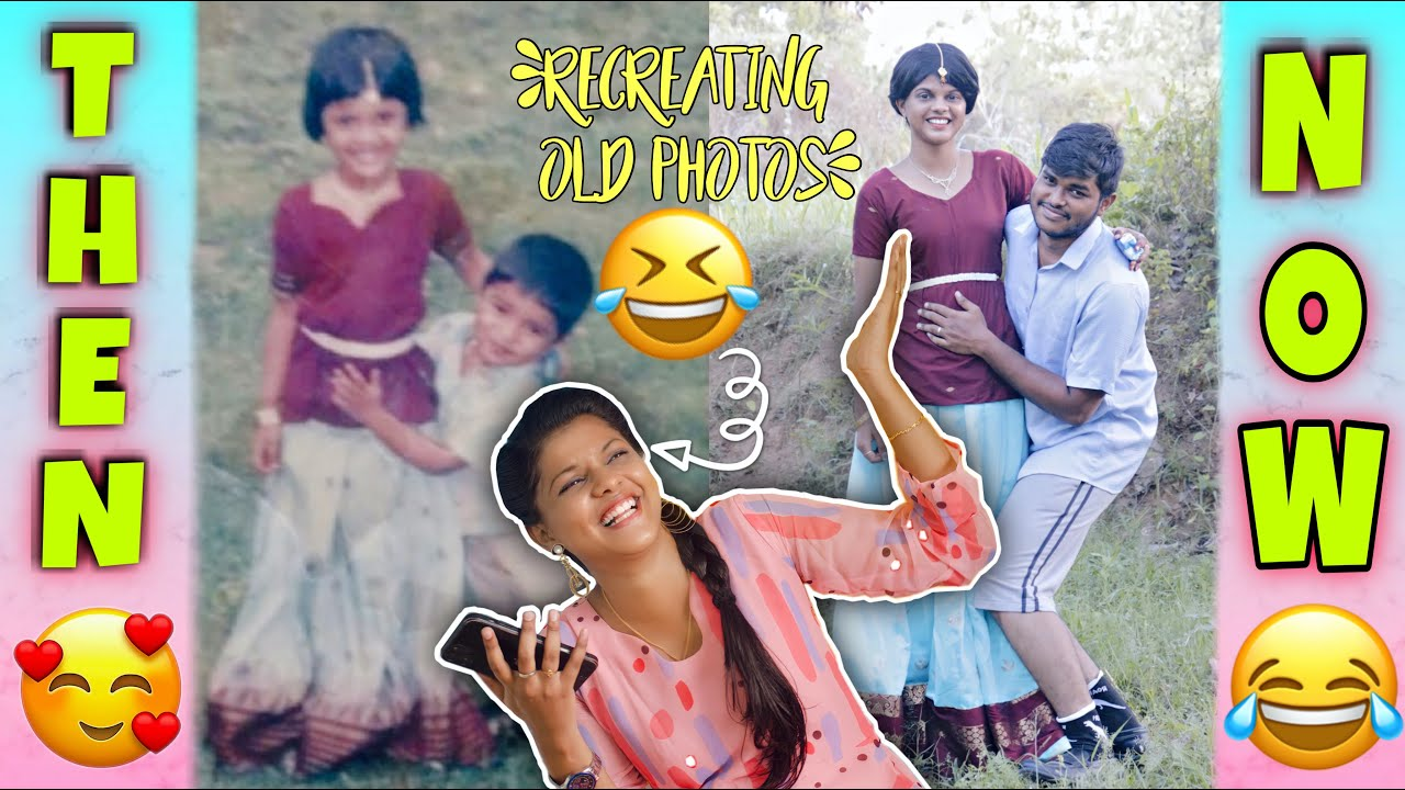 I RECREATED MY CHILDHOOD PICTURES | Funny Recreation | Jenni's Hacks