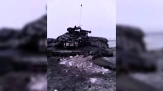 Дебальцево подбитые танки ДНР   Украина Война 2015 АТО