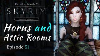 Skyrim Special Edition | Horns \u0026 Attic Rooms | Modded Skyrim Let's Play Episode 51