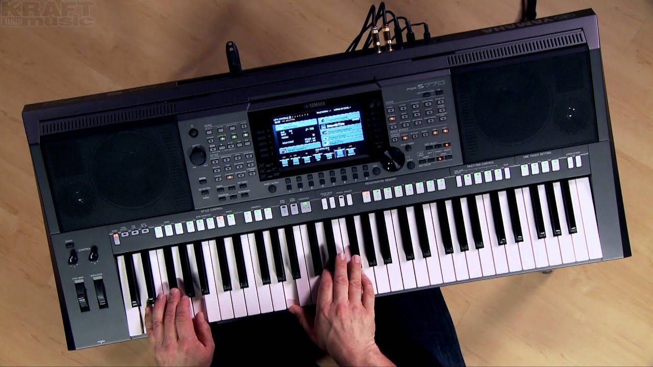 kraft music yamaha psr s770 arranger demo with blake