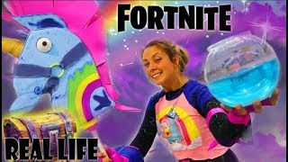 CREO UN COSPLAY DE FORTNITE CON UN COFRE MAGICO!! *fortnite en la vida real*