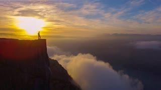 Prekestolen (Pulpit Rock) from the air