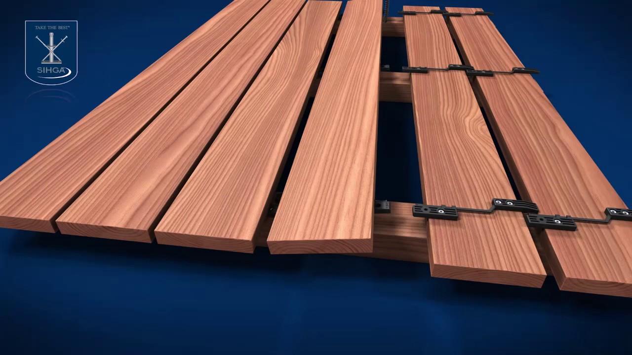 Sihga Gleitfix System Do Ukrytego Montażu Drewnianych Desek Tarasowych