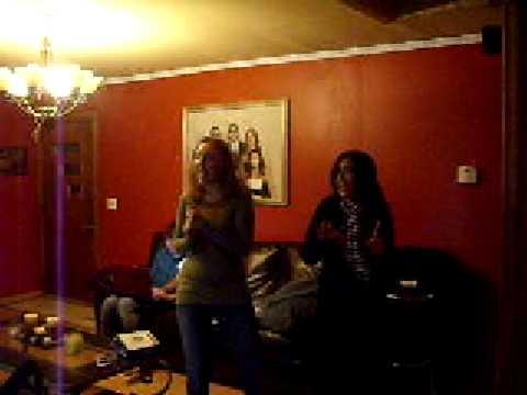 me and mel singing bye, bye, bye karaoke!