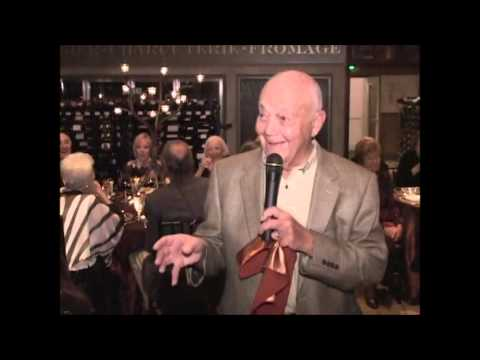 Dad's friend toasts 90th birthday - YouTube