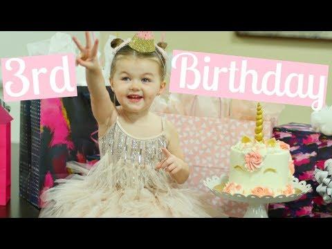 BAYLEE'S 3RD BIRTHDAY VLOG   A BIRTHDAY TO REMEMBER   Tara Henderson