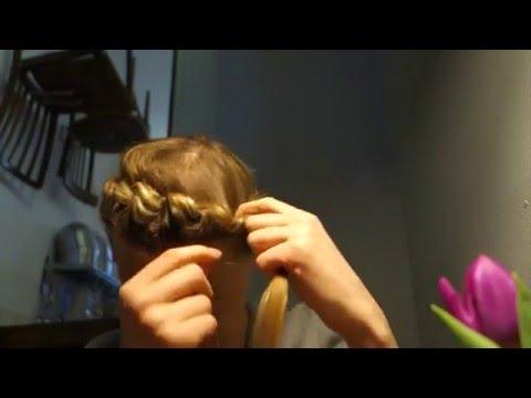 Romantischen Haarkranz selber machen – nur 5 Minuten Haare flechten – Locken Effekt danach