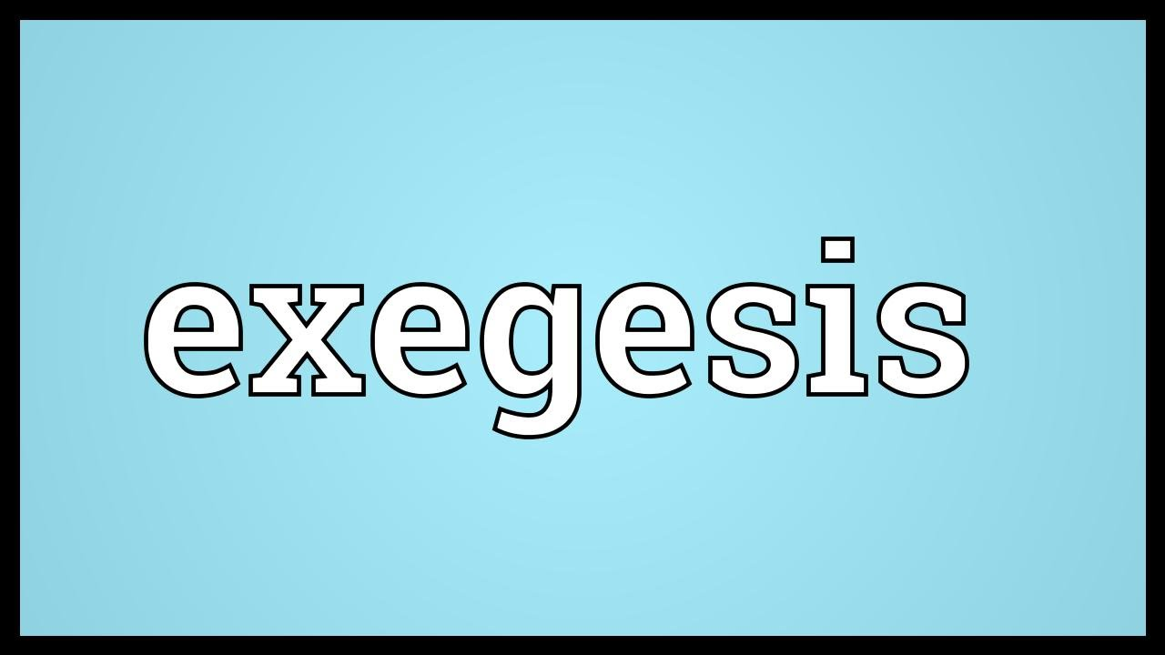 Exegese Definition