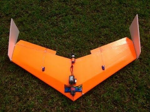 Build Super Simple Flying Wing ( delta wing ) RC - High Spee