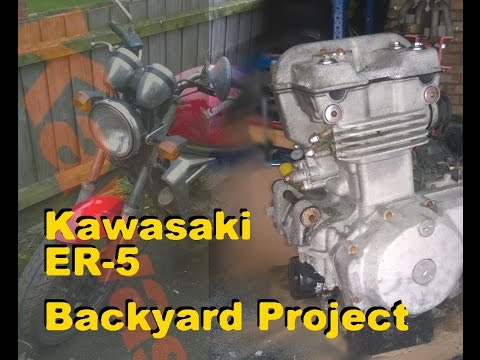 Kawasaki ER 500 - Episode 33 - Cleaning engine cases