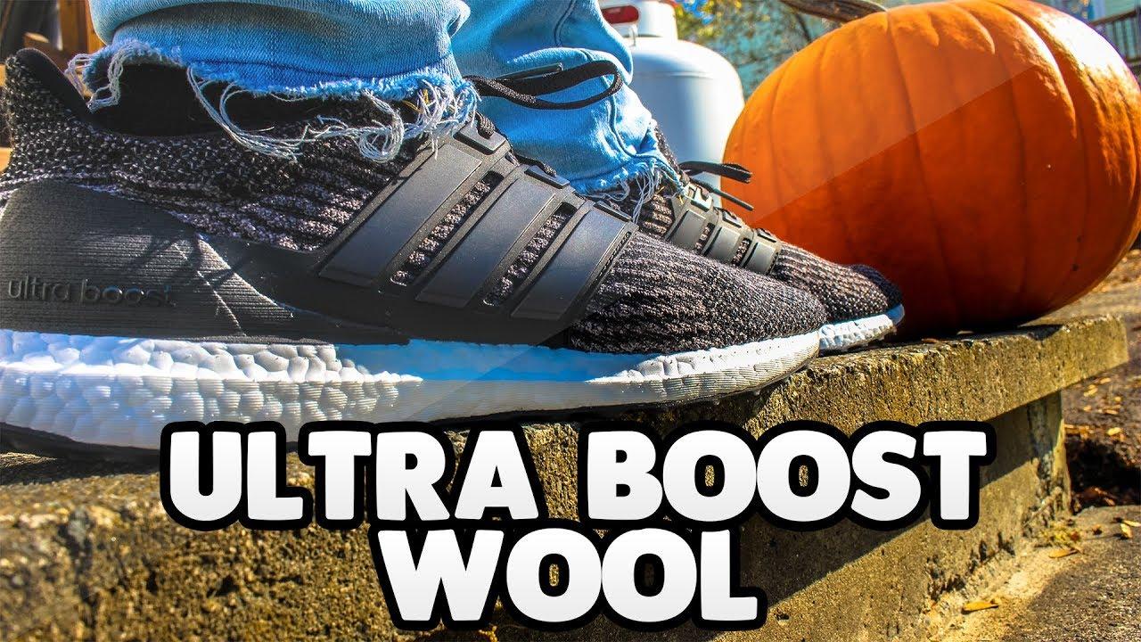 Best Wool ULTRA BOOST? UTILITY BLACK WOOL ULTRA BOOST ON FEET + UNBOXING! NEW ULTRA BOOST 3.0