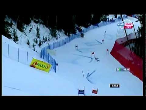 Coupe du Monde Ski Alpin 2011-2012 Slalom Geant d'Aspen | 2nde manche de Lara Gut.avi