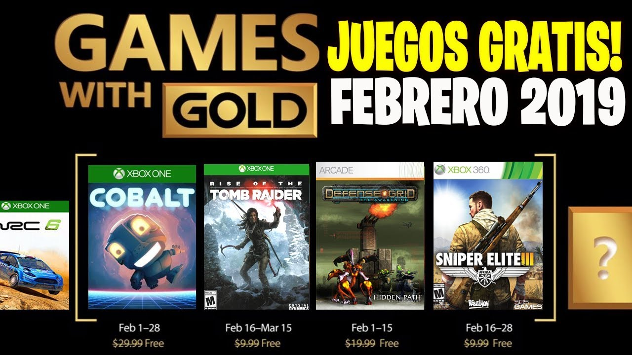 Games With Gold Juegos Gratis Xbox 360 Y Xbox One Febrero