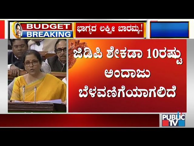 The Nominal Growth Of GDP For 2020-21 Has Been Estimated At 10%: Nirmala Sitharaman | Budget 2020