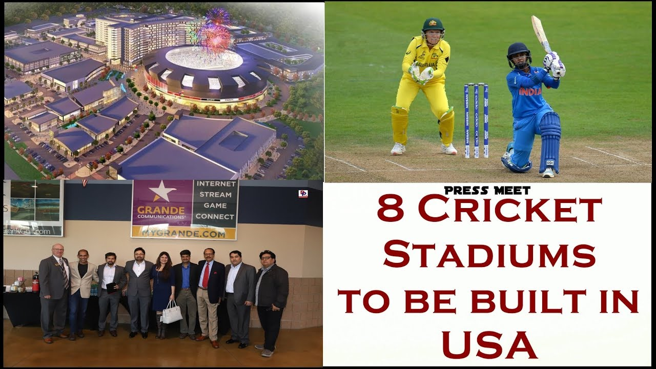 Press Meet  - Cricket Stadium in Texas - First of the 8 stadiums to be build in USA - Desiplaza TV