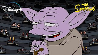 The Best Star Wars References in The Simpsons | Disney+ | Now Streaming