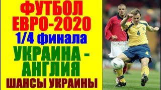 Футбол Чемпионат Европы 2021 Евро 2021 1 4 финала Украина Англия Шансы есть Давайте победу