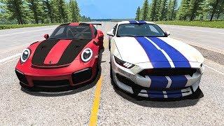 Street Racing Crashes #1- BeamNG Drive   SmashChan