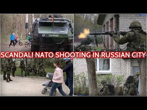 Provocation! NATO Soldiers Harass Russians & Shoot Live Ammunition In Front Of Russian Children!