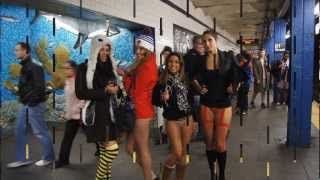 Repeat youtube video Improv Everywhere: No Pants Subway Ride 2013 (Footage)