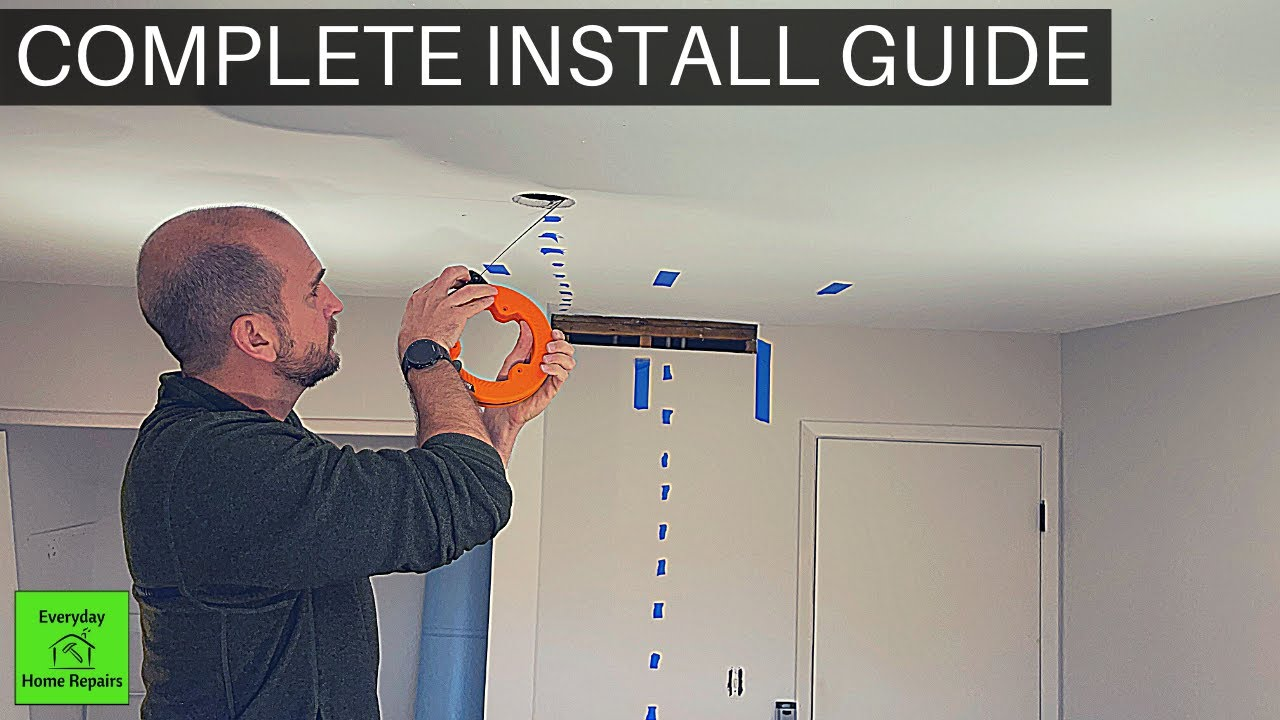 How To Install Ceiling Light Without Existing Wiring Youtube