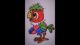 Попугай Кеша из мультика про блудного попугая за 3 минуты