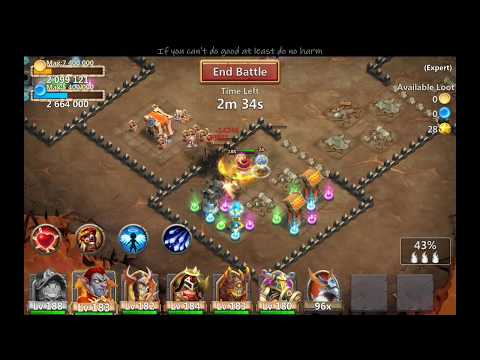 Castle Clash Burning Plate On Pumkin Duke