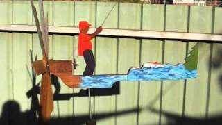 Fishing Man Whirligig
