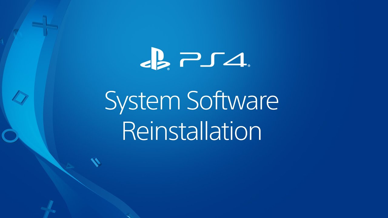 Reinstalling PS4 System Software