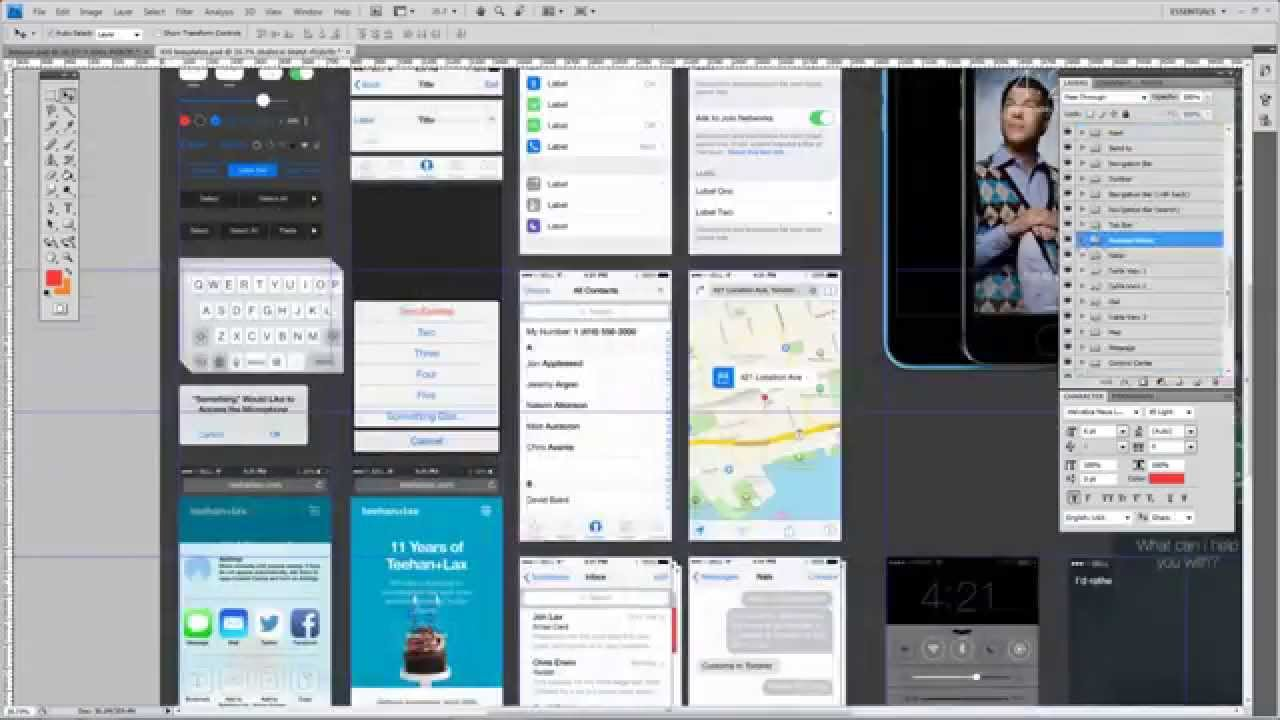 Timelapse Of Mobile App Design In Under 3 Minutes In Photoshop Youtube