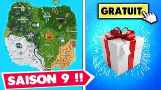 "VOICI THE NEW CARTE AND FREE RECOMPENSE ""DIAPHANE"" On fortnite (teaser Season 9)"