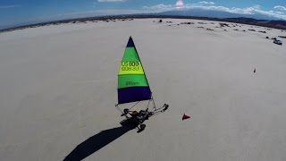 Landsailing at El Mirage - 2014 - Aerial View