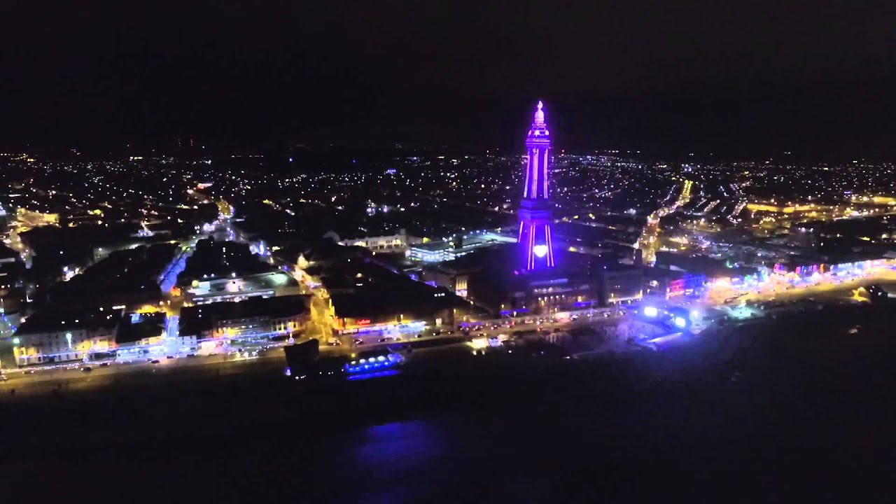 blackpool at night - YouTube