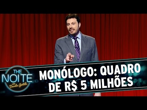 The Noite (28/08/15) - Monólogo: Menino Tropeça E Estraga Quadro De R$ 5 Milhões E A Morte De Roger