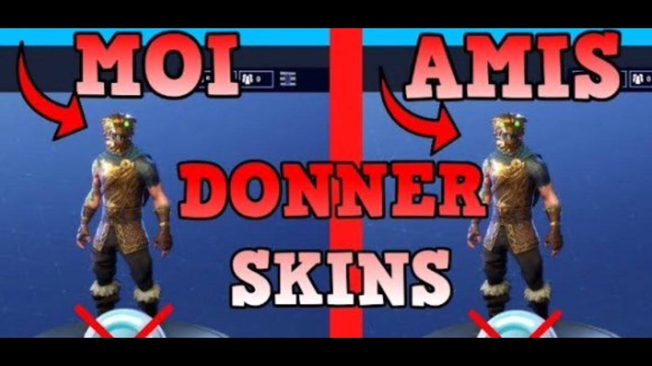 comment donner des skins a ses amis sur fortnite ps4 xbox one pc - comment donner des skins sur fortnite ps4