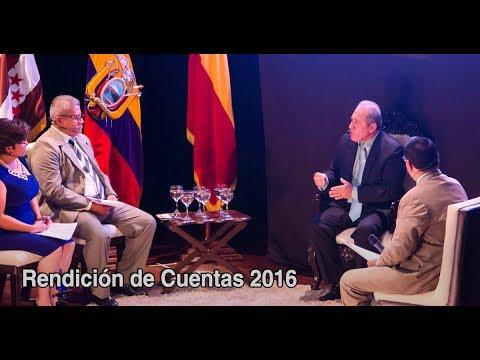 Informe de Rendición de Cuentas GADM Chone 2016