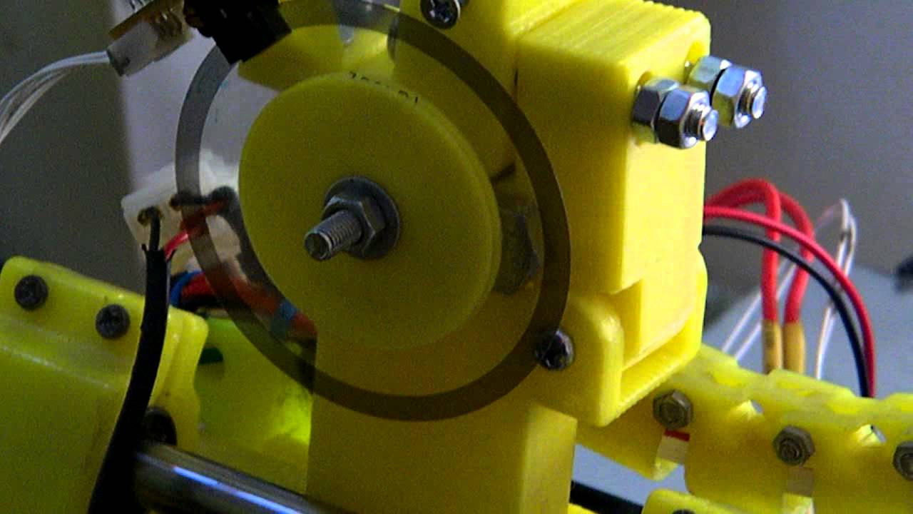 reprap extruder with encoder and stm32 print test