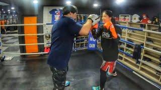 콤비네이션 복싱 미트 트레이닝 boxing pad wo…