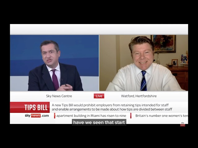 Dean Russell MP Appears On Sky News To Talk About His Tips Bill
