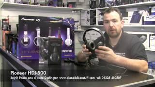 Pioneer hdj 500 headphones @ phase one dj store