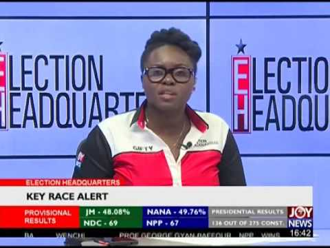 Results declaration in Ho Central - Election HQ on Joy News (8-12-16)